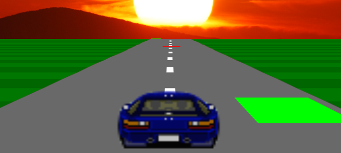 Sunset Drive Game in JavaScript