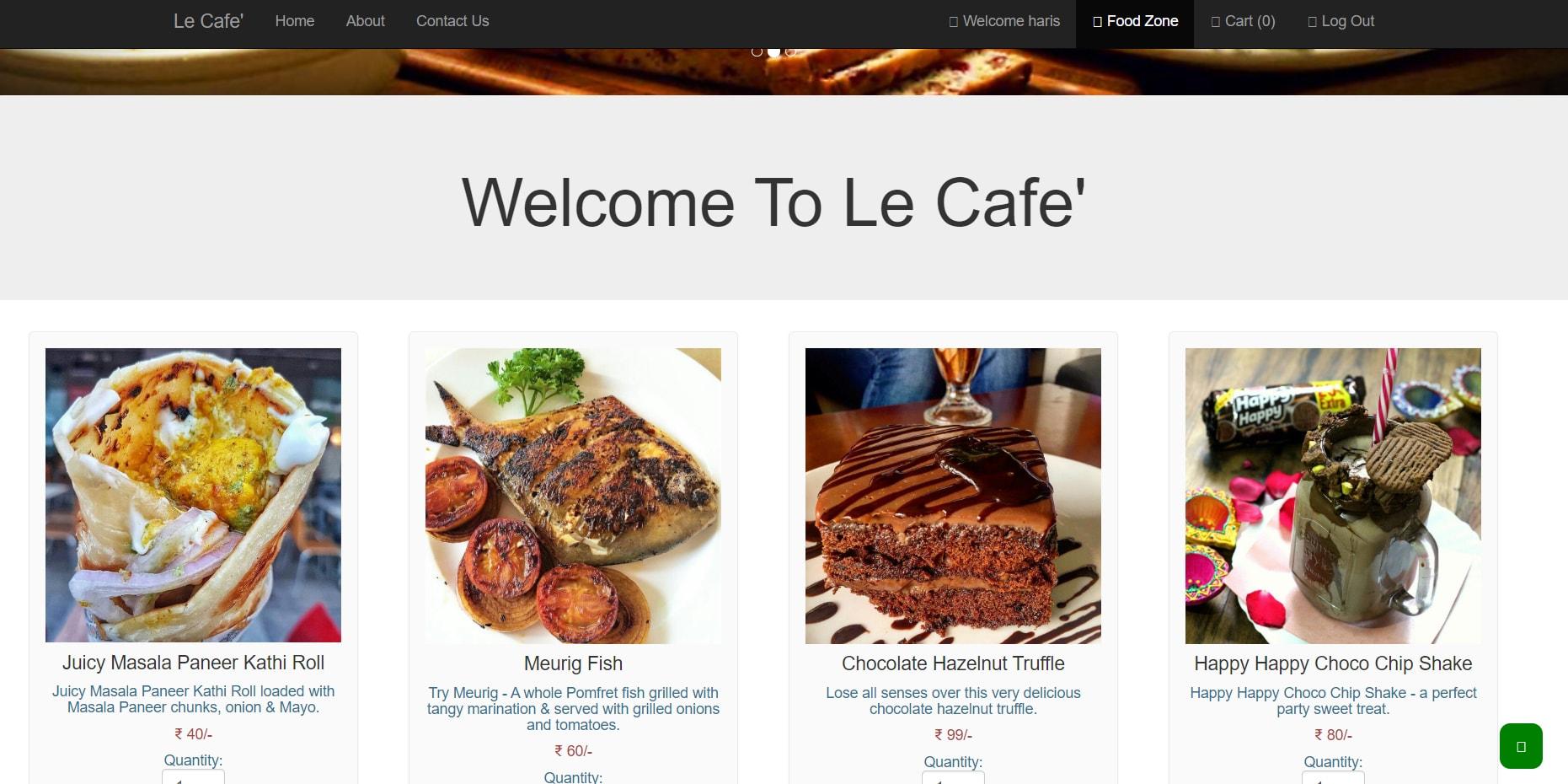 image of Online Food Order System