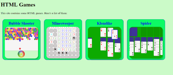 image of html games