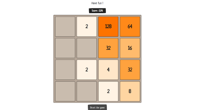 image of 2048 game