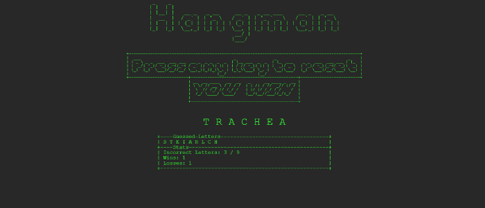 image of hangman game
