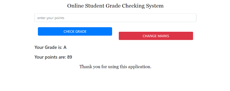 image of grade checking system