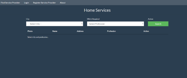 Home Service System In PHP With Source Code | Source Code & Projects