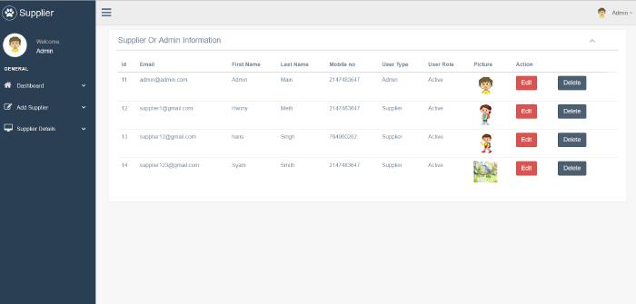 image of supplier management system
