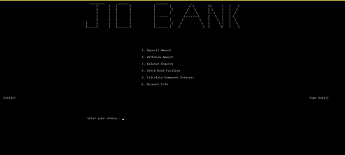 Simple Banking System