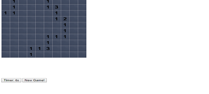 Simple Minesweeper Game