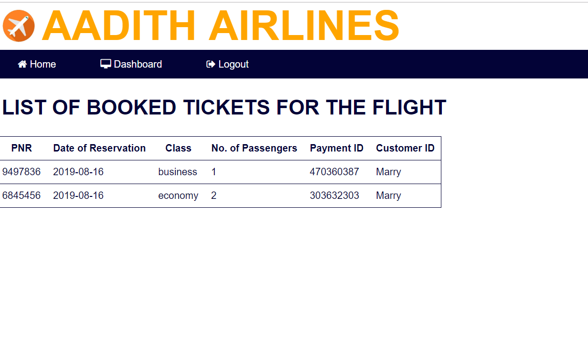 image of airline ticket reservation