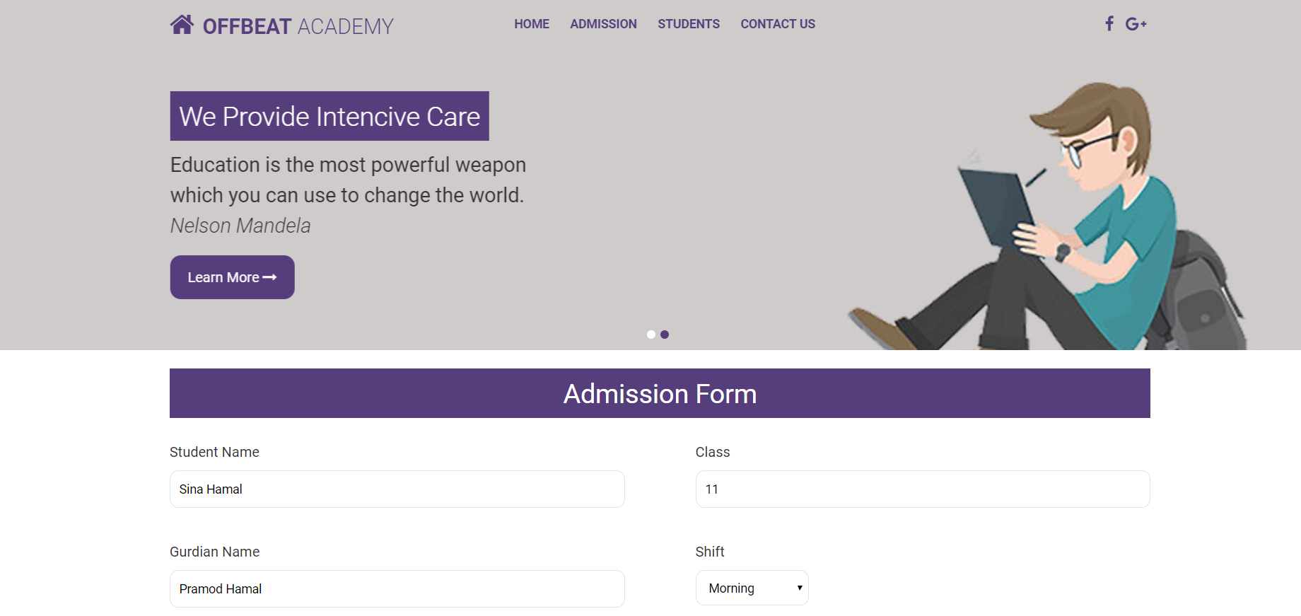 image of admission system