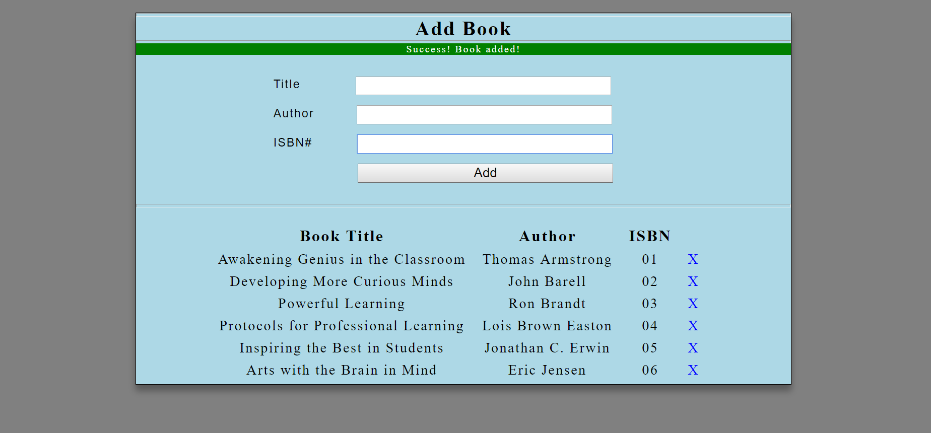 image of book listing system