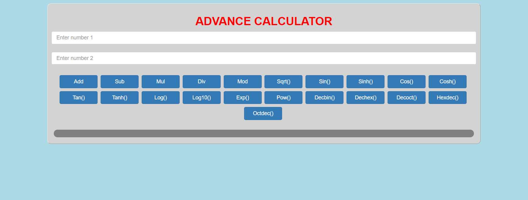 image of advance calculator