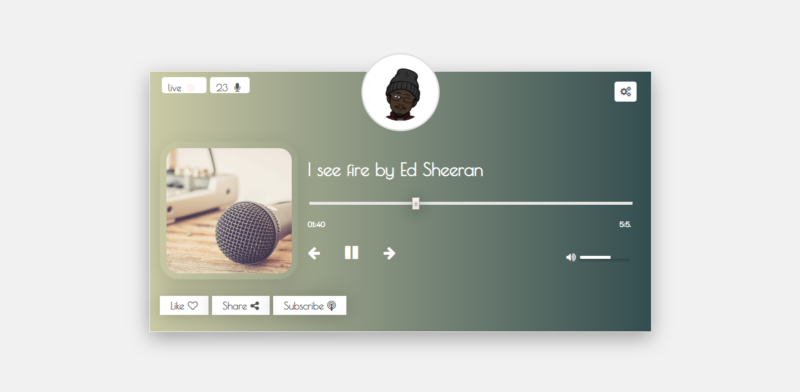image of Simple Audio Player App