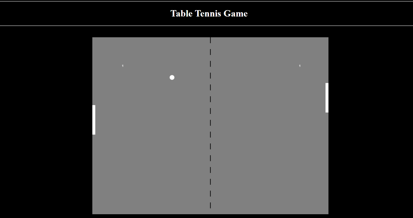 image of Table Tennis Game
