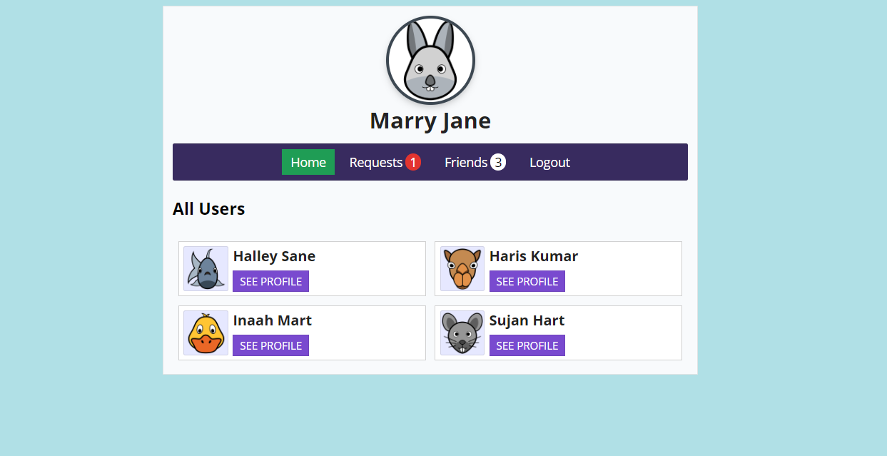 image of Friend Request System