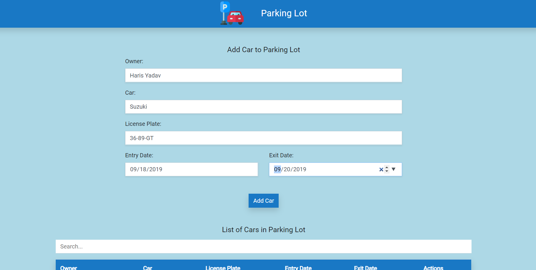 image of Simple Parking Lot