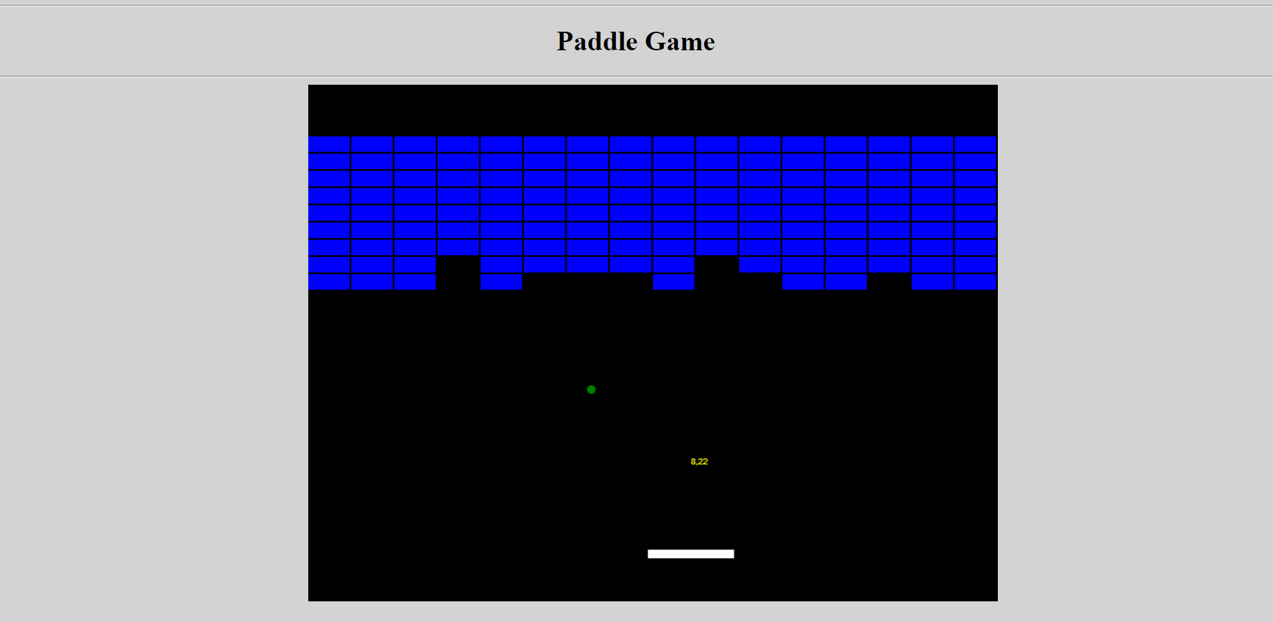 image of Paddle Game