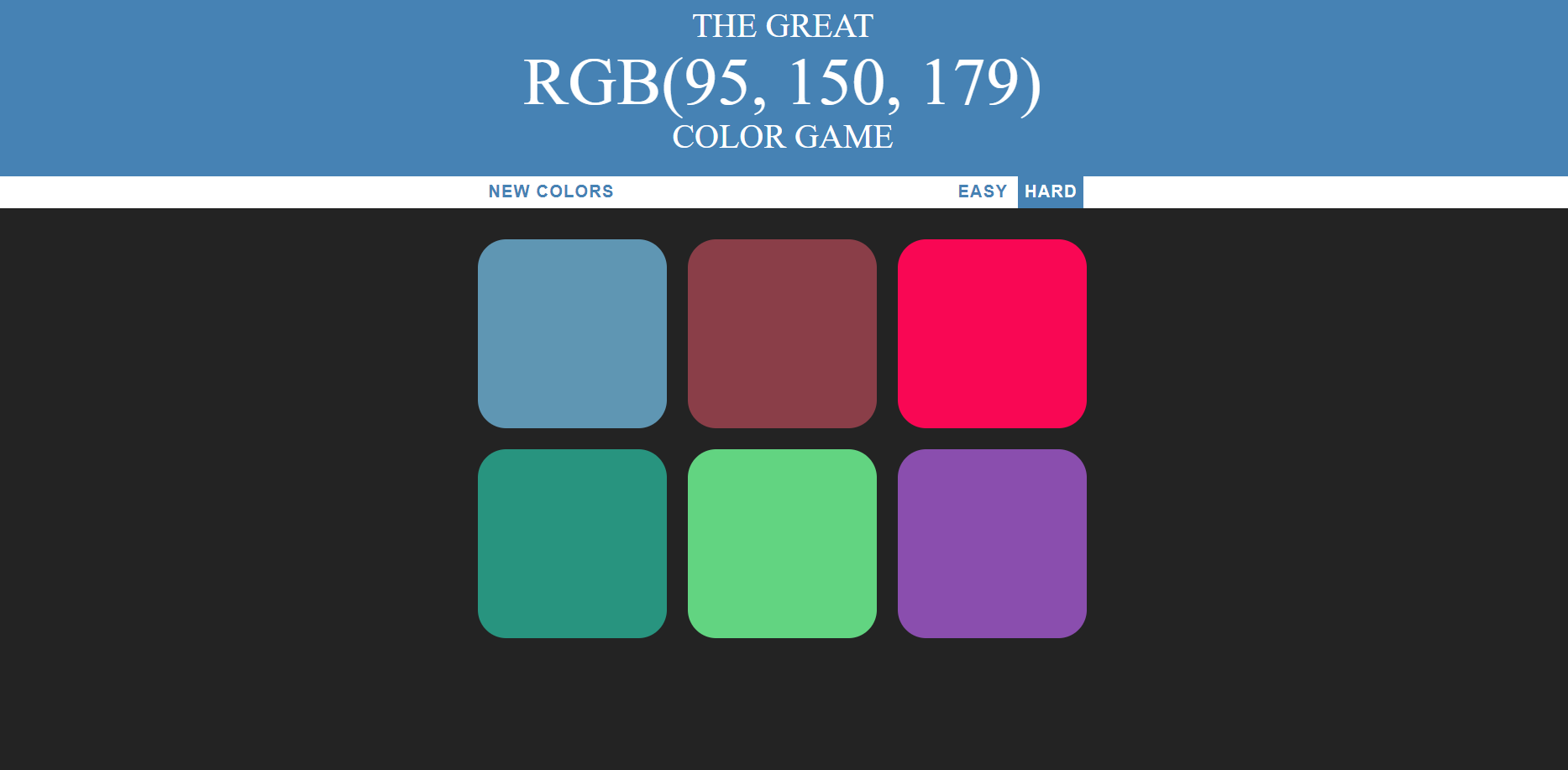 image of RGB Color Game
