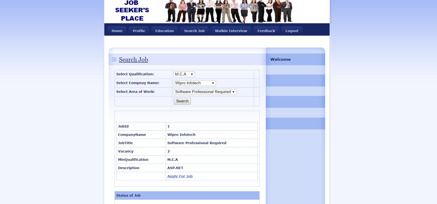 image of Online Job Portal System