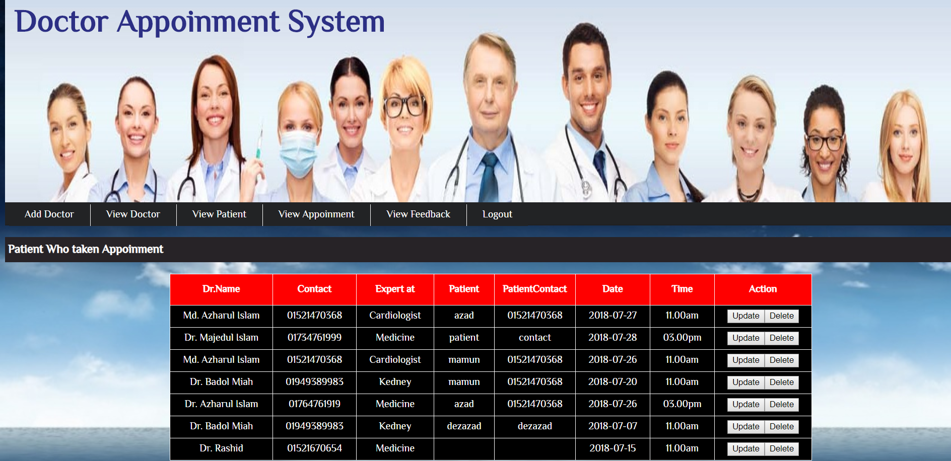 image of Doctor Appointment System