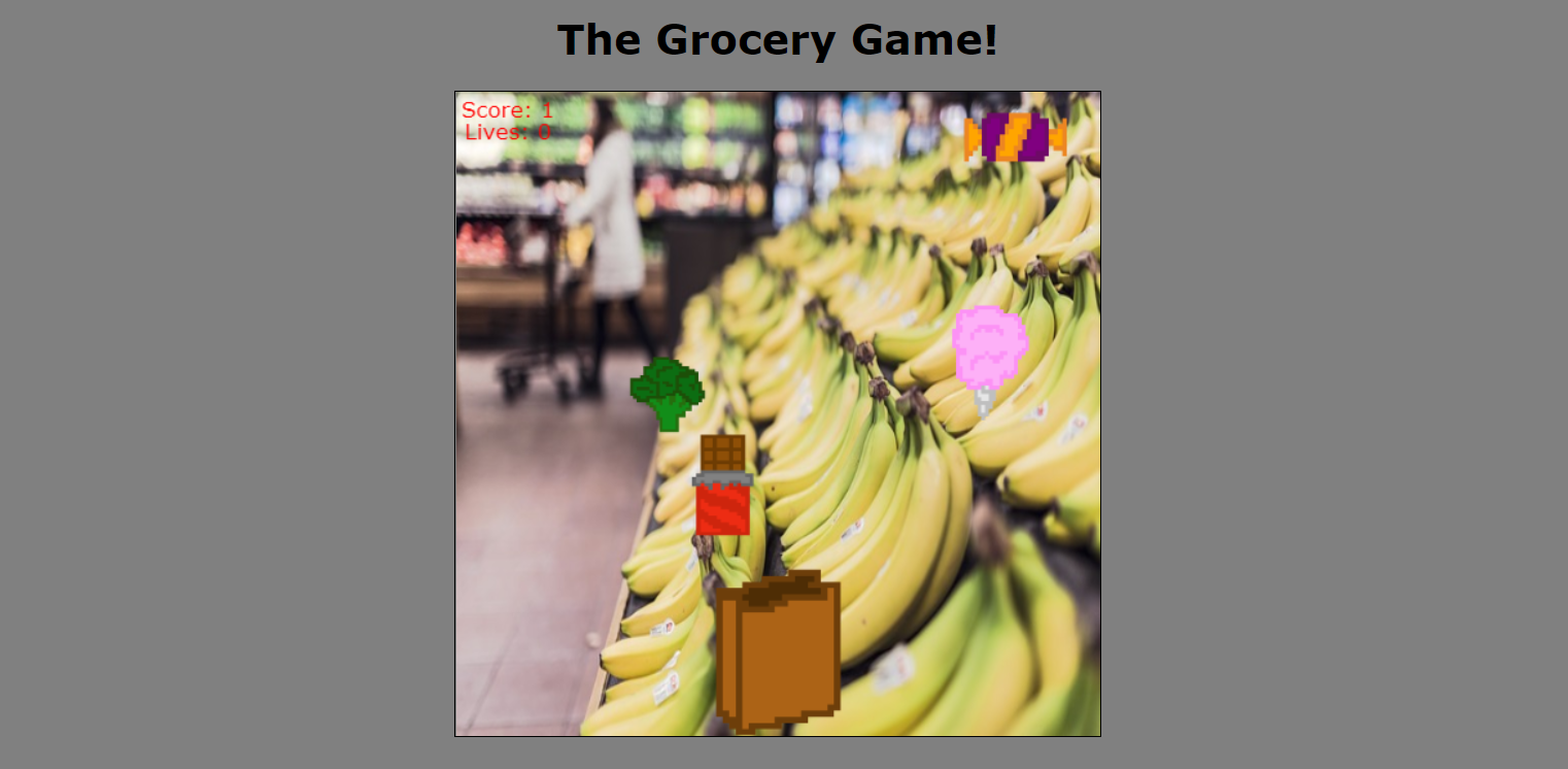 THE GROCERY GAME IN JAVASCRIPT WITH SOURCE CODE