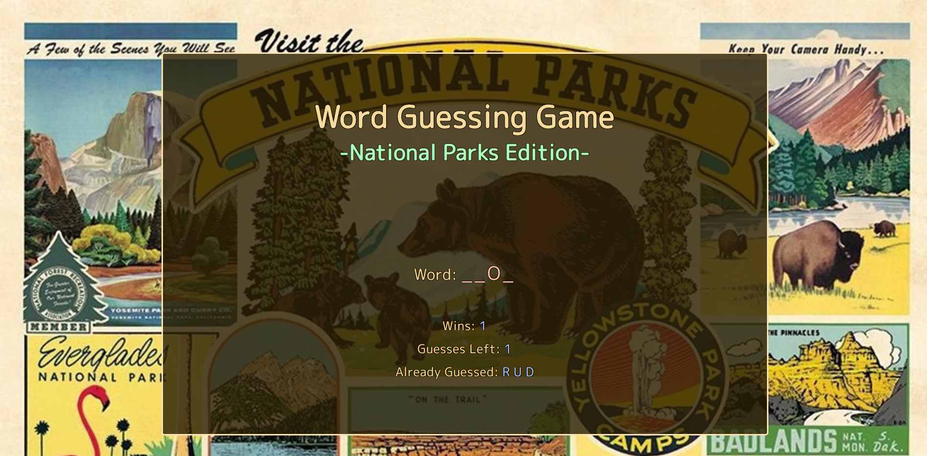 image of word guess game