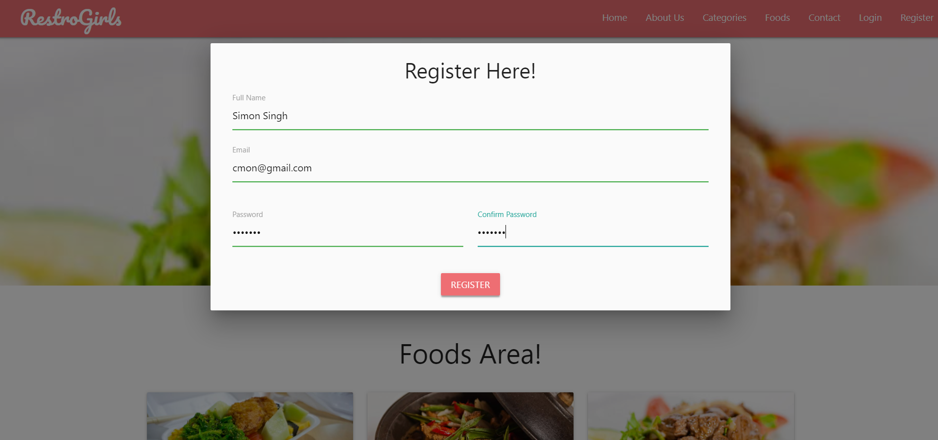image of online restaurant management system