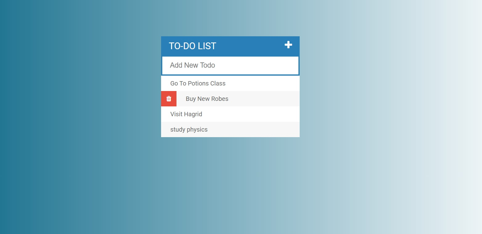 image of Todo List app