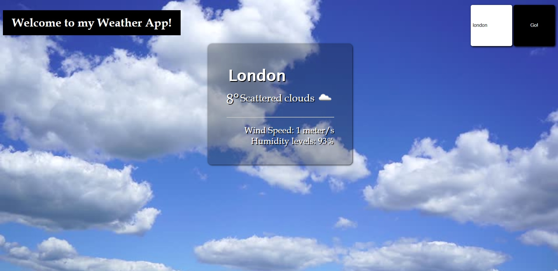 WEATHER APP IN JAVASCRIPT WITH SOURCE CODE