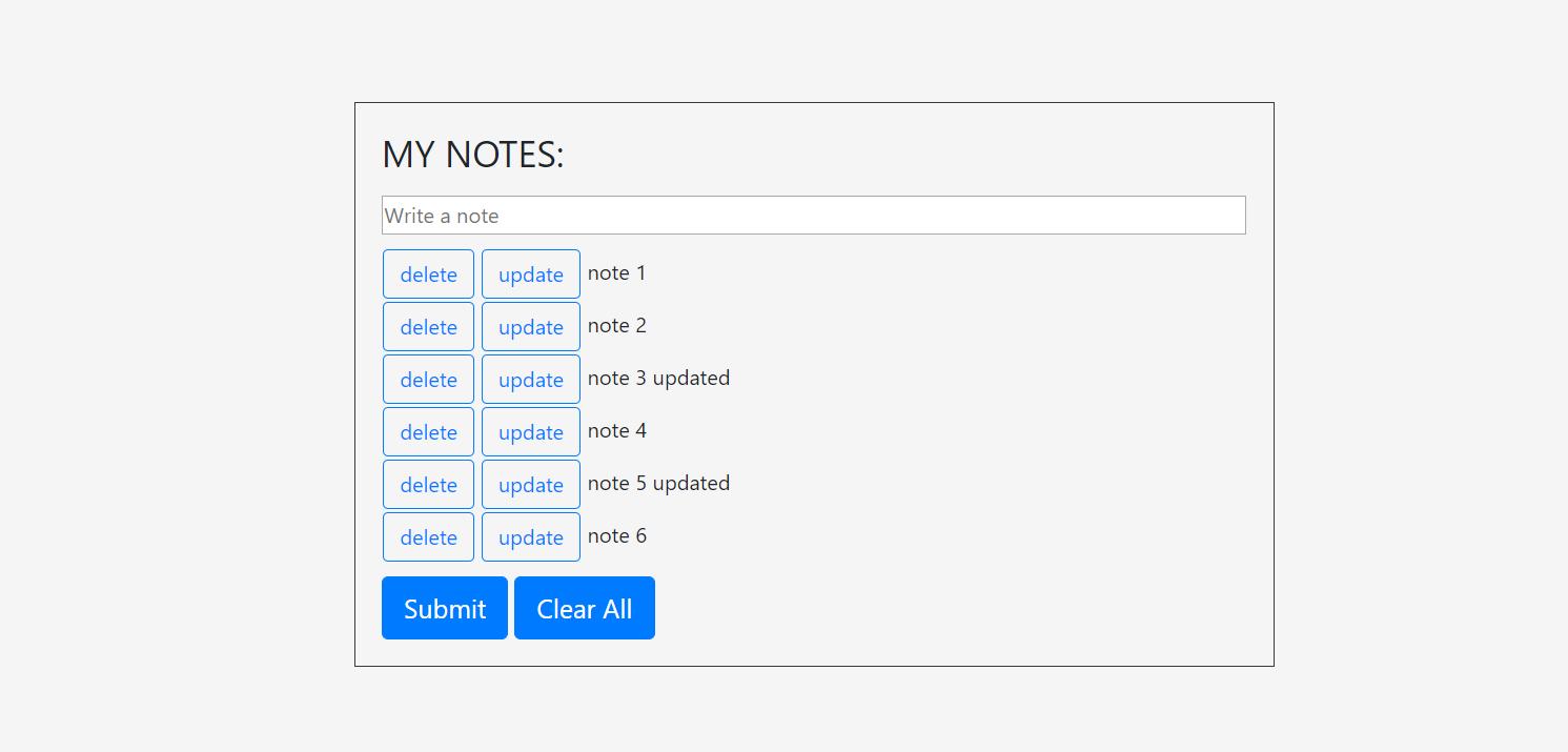 image of simple note app