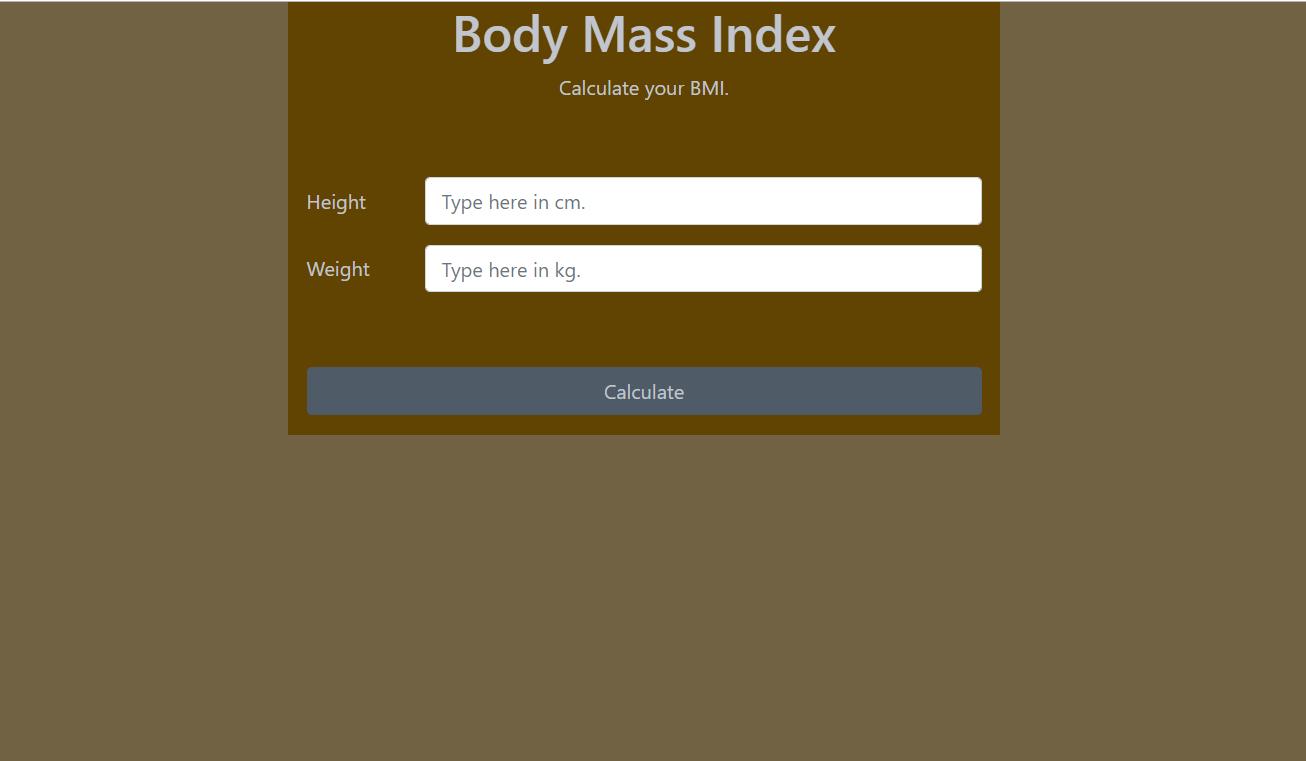 image of Body Mass Index Calculator