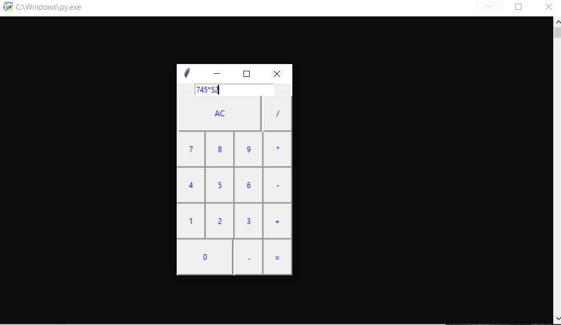 SIMPLE CALCULATOR IN PYTHON WITH SOURCE CODE