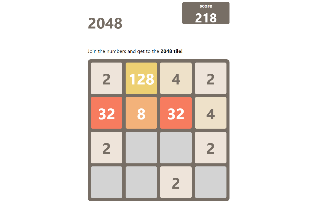 2048 IN JAVASCRIPT WITH SOURCE CODE