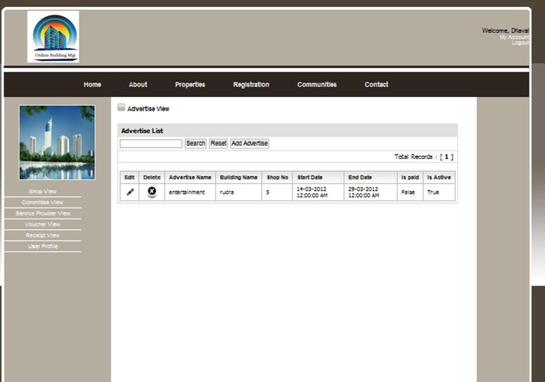 Online Building Management Portal