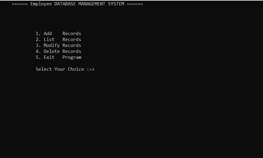 employee database system