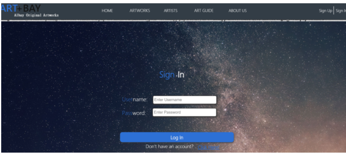 Artworks Gallery in php