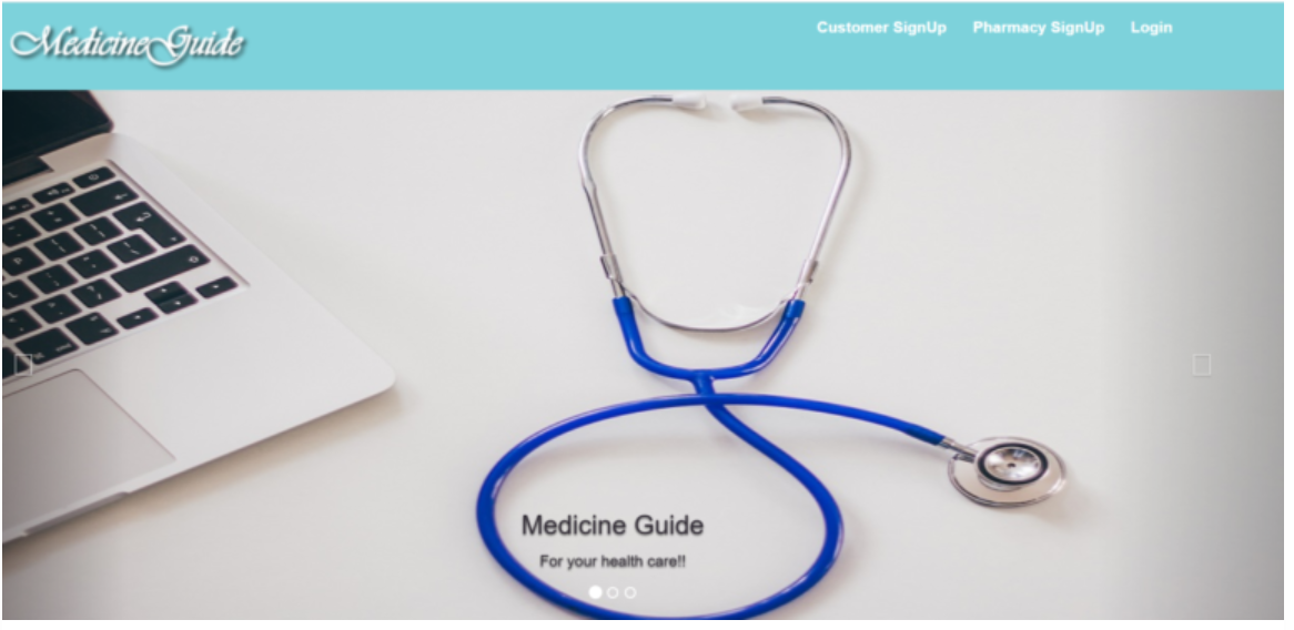 Online Medicine Guide in php