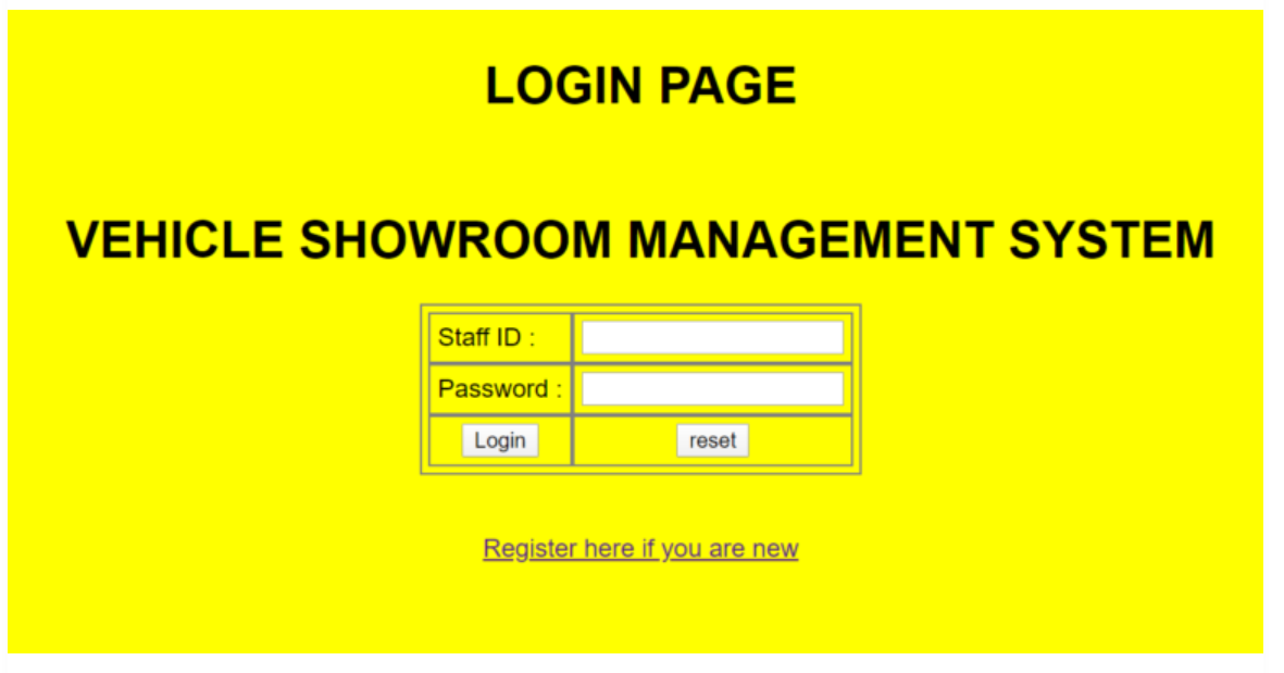 Vehicle Showroom Management System in php
