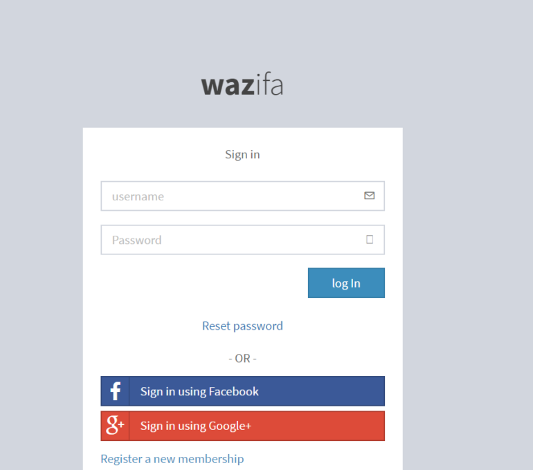 Wazifa System in php