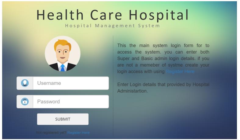 Health Care hospital Management System