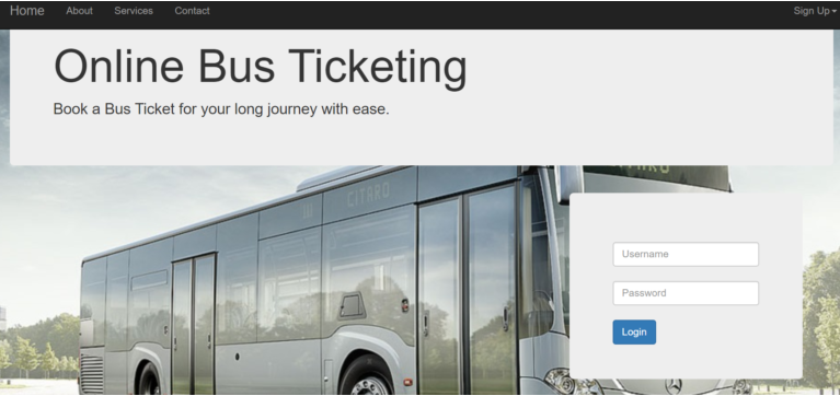 Bus Booking in php