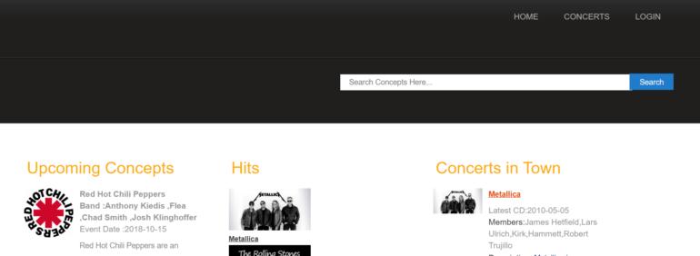 Concert Ticket Reservation System
