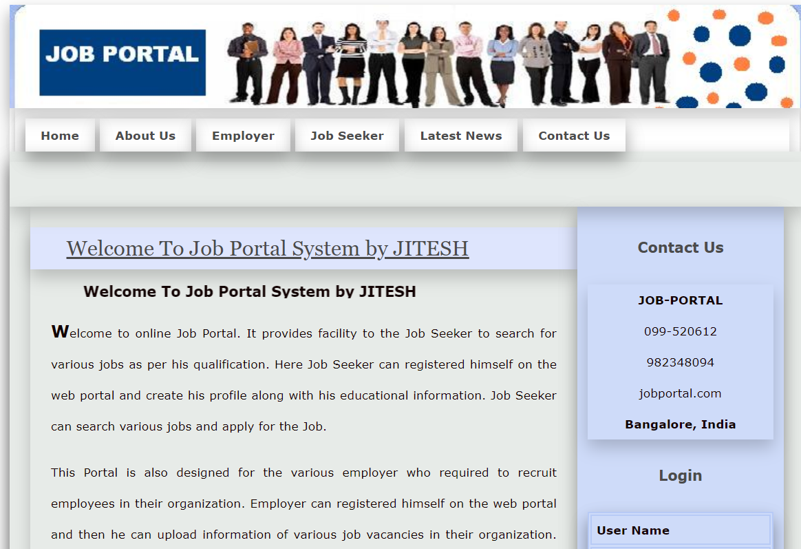 Online Job Portal in php