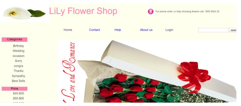 Online Flower Shop in php