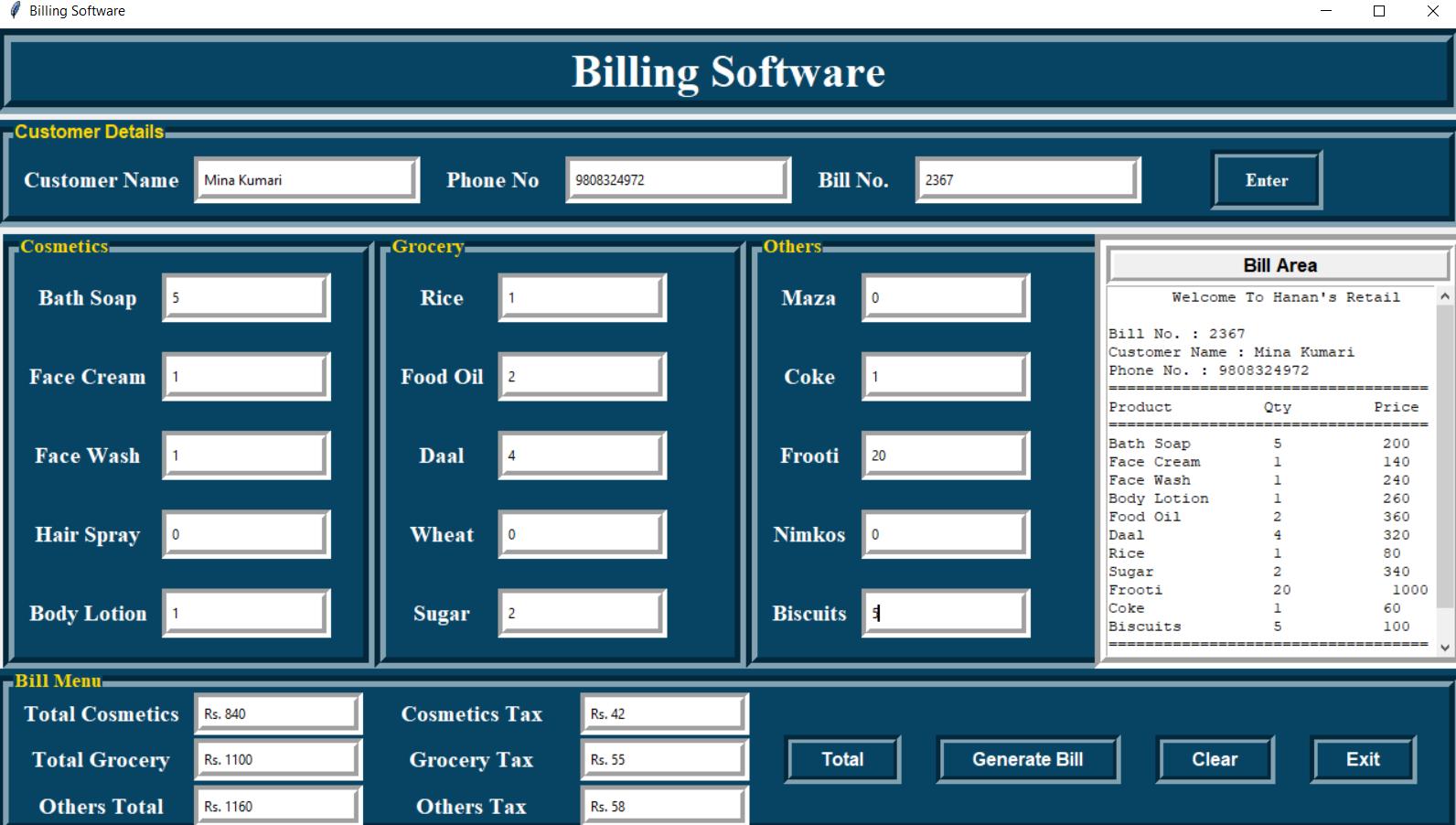 bill management