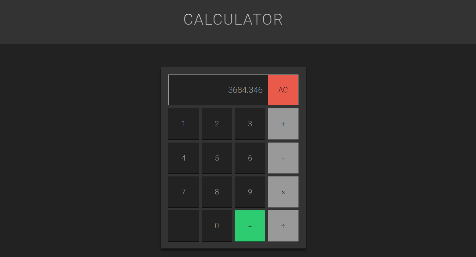 javascript calculator