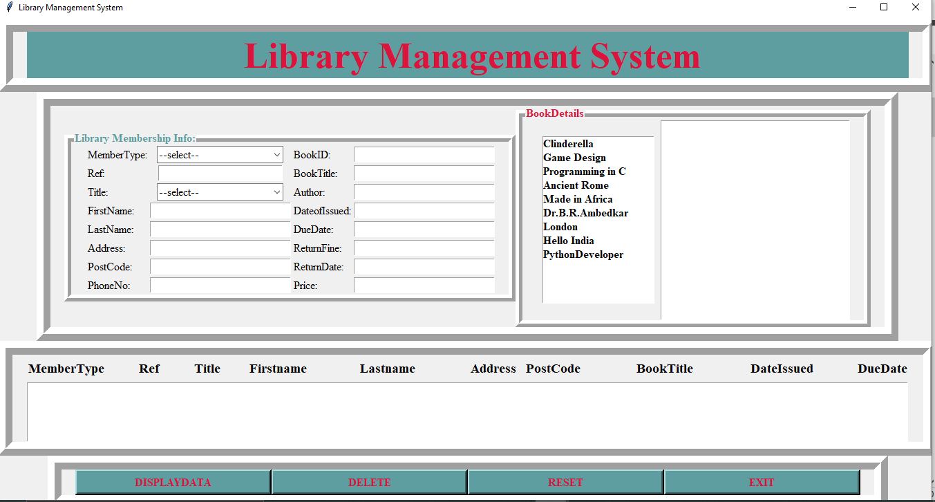 simple library
