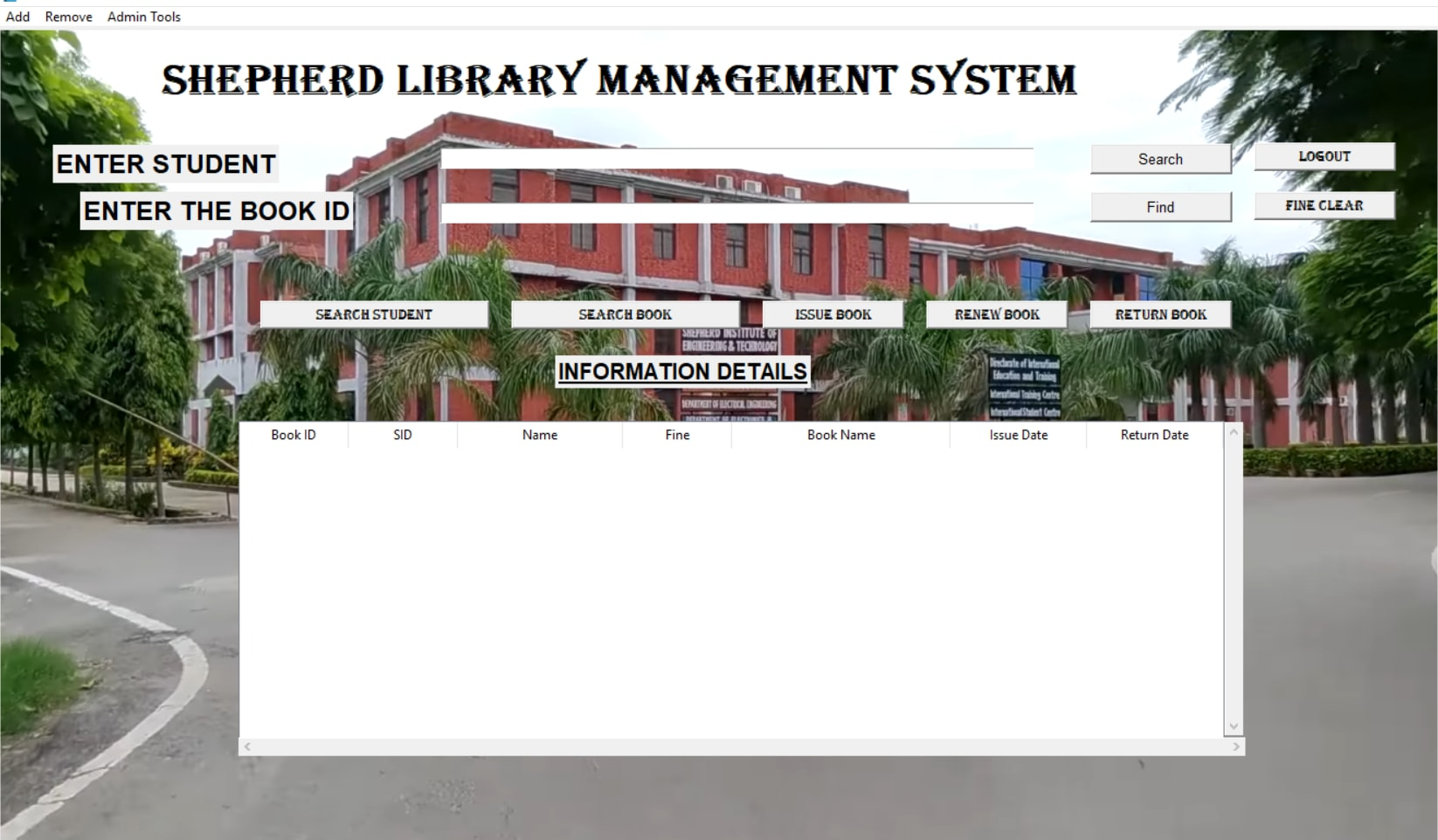 simple library system