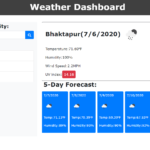 Weather Dashboard In JavaScript With Source Code