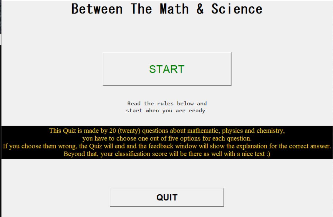 math science quiz