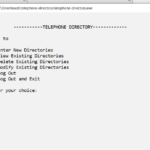 Telephone Directory In C++ With Source Code