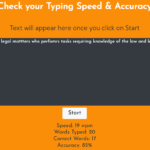 Typing Speed Calculator In JavaScript With Source Code